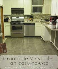 kitchen floor groutable vinyl tile