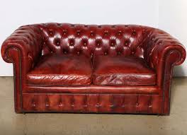 vintage look red leather tufted loveseat sleeper sofahhin lovely