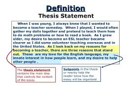 the thesis statement a road map for your essay 4
