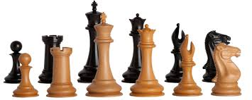 the golden collector series luxury wood chess pieces