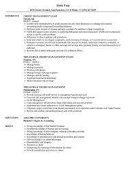 Credit Management Resume Samples Velvet Jobs