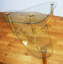 Antique Brass Glass Coffee Table Vintage Brass Top Coffee Table Coffee Tables