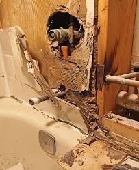 remodeled bathrooms with tile. Bathroom Remodel Tile Rot Mold Remodeled Bathrooms With