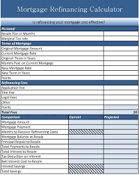 refinance calculations mortgage refinance calculator excel