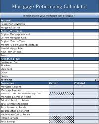 Mortgage Refinance Calculator Excel Mortgage Refinance Calculator Excel