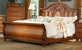 Sleigh Bed King King Size Wood Bed Frame White King Bed Frame King ...
