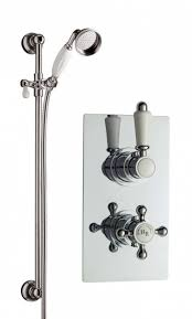 image for a3099c a3211 hudson reed traditional twin concealed shower valve with rail kit