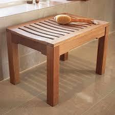 shower bench wood