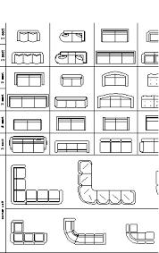 sofas plan cad blocks