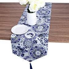 Luxiu Home Chinese Style Blue and White Porcelaini ... - Amazon.com