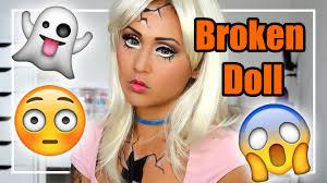 ed broken doll halloween makeup tutorial jubayna