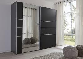 Schwebetürenschrank Schwarz Mit Spiegel Navena16 Designermöbel