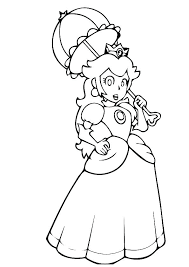 Coloring Pages Princess Peach Princess Peach Coloring Pages