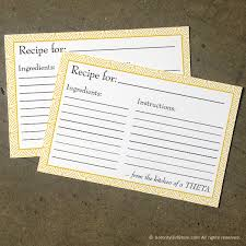 Where To Buy Recipe Cards In Stores Kappa Alpha Theta Recipe Cards Geo