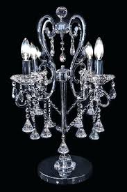 table lamp chandelier wonderful crystal lamps crystals tadpoles mini white