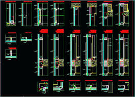 curtain wall section detail dwg glass