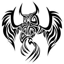 эскиз совы в трайбл стиле эскизы татуировок