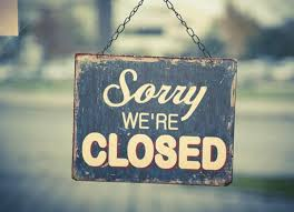 Image result for b&b closed sign