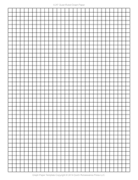 Graph Paper Template 1 4 Inch Letter Pdf Printable Graph