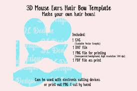 Mouse Ears Bow Template Graphic By Jl Designs Creative Fabrica