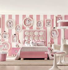 Pink Bedroom For Girls Insanely Girly Girl Bedroom With Dogs White Pink Stripes Wall Cool