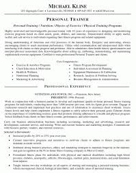 Template Cover Letter Sample Personal Trainer Copy Training Resume