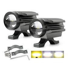 MGLLIGHT 1 cái Chùm Vàng / Chùm Trắng / Chùm Vàng-Trắng Đèn LED Xe Máy Đèn  LED Xe Máy Đèn Thể Thao Đèn Pha Xe Máy 9-32V Hợp Kim Nhôm CNC IP68