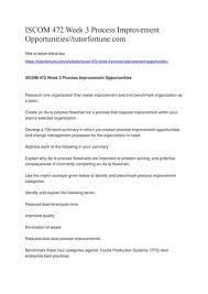 Toyota Process Flow Chart Iscom 472 Week 3 Process Improvement Opportunities