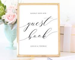 Wedding Guest Book Sign Printable Guestbook Sign Wedding