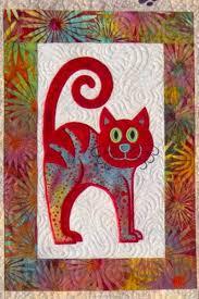 Cat's Meow quilt, close up of machine embroidery, design by Lunch ... & Cat's Meow quilt, close up of machine embroidery, design by Lunch Box Quilts Adamdwight.com