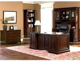 wooden home office. Wooden Office Desk Hardwood Wood Dark Finish Executive For Home .