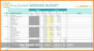 014 Free Printable Wedding Budget Template Spreadsheet Full
