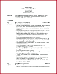 Sample Accounting Resume Objective Resume Entry Level Accounting Resume Sample