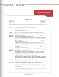 100 Example Of A Good Chronological Resume Templates List Objectives