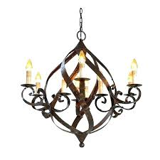 rustic globe wrought iron chandeliers rustic globe chandelier rod large