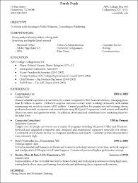 college sample resume