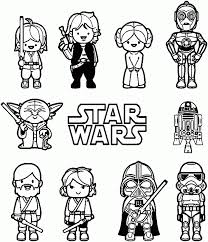 Simpatici Personaggi Kawaii Chibi Di Star Wars Da Colorare Disegni