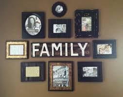 Family Wall Art Picture Frames | Wallartideas Intended For Family Wall Art  Picture Frames (Image