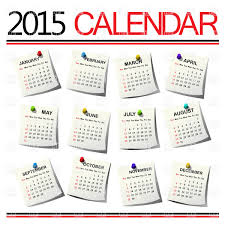 free year calendar 2015 calendar for 2015 year for all months vector illustration of