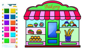 Cake Shop Drawing Pictures Easy And Beautiful Cake Shop Coloring