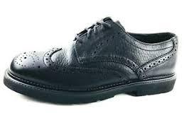 Details About Hush Puppies Wingtip Mens Shoes Black Size Us 11 Uk 10 5 Eu 45