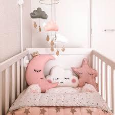 pink star organic cot baby bedding set