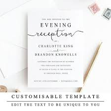 Great Wedding Reception Invitation Templates Pictures