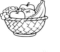 Coloriage Corbeille De Fruits Imprimer Sur Coloriages Info