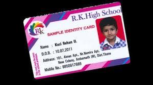 sample id cards pvc school id cards shape rectangular rs 20 unit ducis