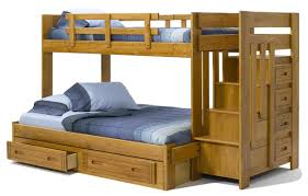 chelsea home twin over full bunk bed with storage  reviews  wayfair
