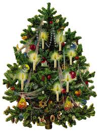 Old Fashioned Tree. This old fashioned Christmas tree is decorated ...