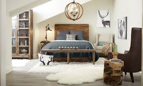 A gorgeous rustic bedroom with rustic decor