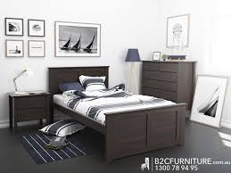 single bed size design. Hardwood King Single Size Bed Frame With Brown Timber Stain Modern Kids Beds Bedroom Furniture Design R