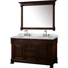 Dark Bathroom Cabinets 60 Andover 60 Dark Cherry Bathroom Vanity Bathroom Vanities